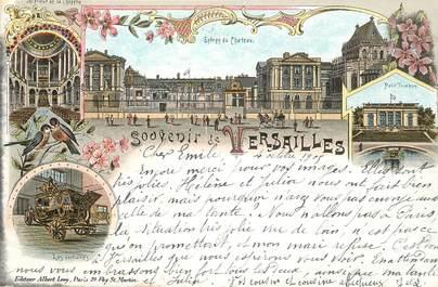 """CPA FRANCE 65 """"Souvenir de Versailles"""" / GRUSS / CARTE PRÉCURSEUR"""