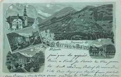 """CPA FRANCE 74 """"Saint Gervais les Bains"""" / GRUSS / CARTE PRÉCURSEUR"""
