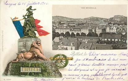 """CPA FRANCE 90 """"Belfort"""" / GRUSS / CARTE PRÉCURSEUR 1896"""