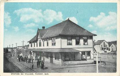 "CPA CANADA ""Quebec, station du Village, Parent"""