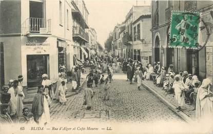 """CPA ALGERIE """"Blida, café des Maures"""""""