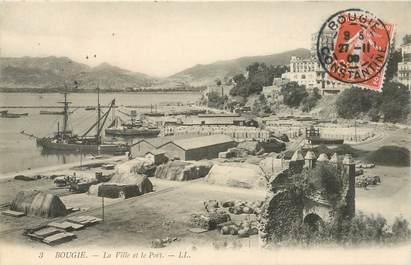 """CPA ALGERIE """"Bougie, la ville et le port"""""""