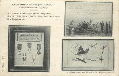 CPA AVIATEUR Adolphe PEGOUD