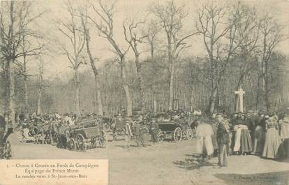 CPA CHASSE A COURRE 1906