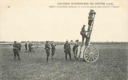 CPA MILITAIRE / 1908 / TRAIN DE CAISSON