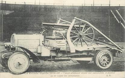 CPA MILITAIRE / CANON ALLEMAND monté sur automobile