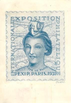 CPA EXPOSITION PHILATELIQUE 1937
