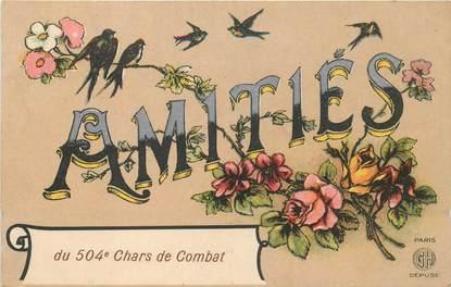 """CPA MILITAIRE """"Régiment 504è Chars de Combat"""""""