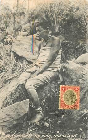"CPA AFRIQUE ""Malawi, Tribu ANGOUROU, Bouche en plateau"""