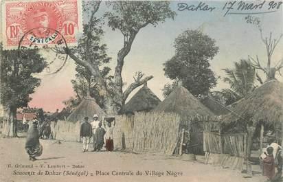 """CPA SENEGAL """"Dakar, Place centrale du Village"""""""