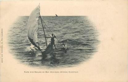"CPA ZANZIBAR ""Fuite d'un esclave en mer"""