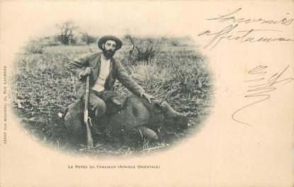 """CPA AFRIQUE """"Le Repos du chasseur"""""""