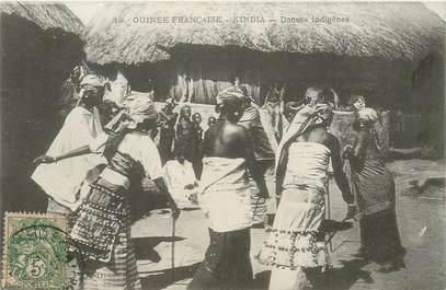 "CPA GUINEE ""Kindia, danses indigènes"""