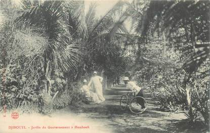 "CPA DJIBOUTI ""Jardin du Gouvernement à Hambouli"""