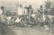 """Afrique CPA SOMALIE """"Lessive au village"""""""