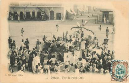 """CPA DJIBOUTI """"Fête du Mardi Gras"""""""