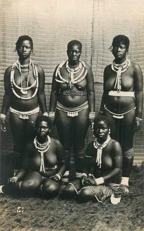 """CARTE PHOTO NU AFRIQUE """"Types Zulu"""""""