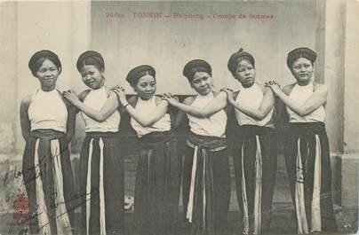 """CPA VIETNAM / INDOCHINE """"Tonkin, Haïphong, groupe de femmes"""""""