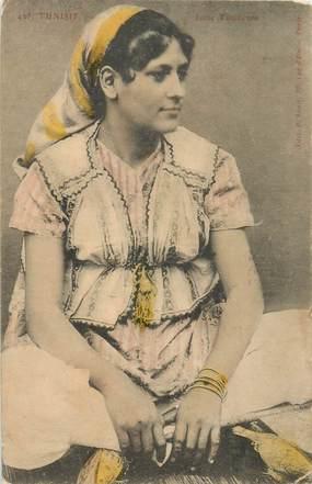 "CPA JUDAICA ""Femme Juive tunisienne"""