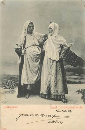 """CPA TURQUIE """"Bohémiennes de Constantinople"""" / PHILATELIE"""