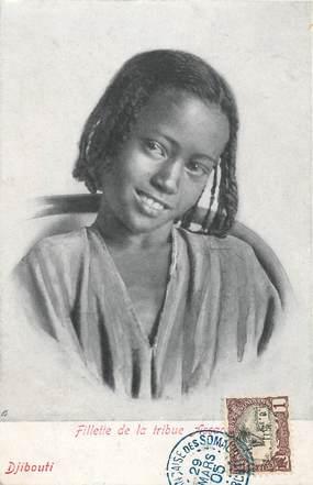 "CPA DJIBOUTI ""Fillette de la tribu Assaa"""