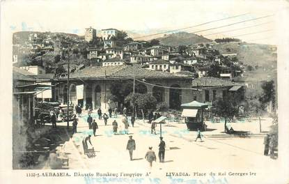 "CPA GRECE ""Livadia, place du Roi Georges Ier"""