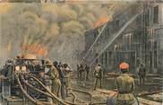 """Grece CPA GRECE SALONIQUE """"Soldats anglais et français éteignent le feu"""""""