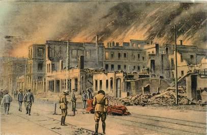"""CPA GRECE SALONIQUE """"Ville haute incendiée"""""""
