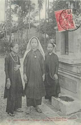 """CPA VIETNAM """"Cholon, groupe de jeunes filles"""""""