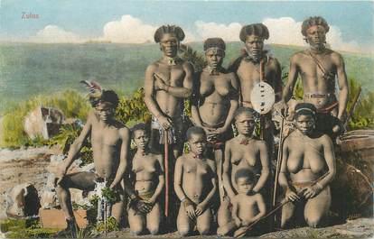 "CPA AFRIQUE ""Types Zulus"" / NU"