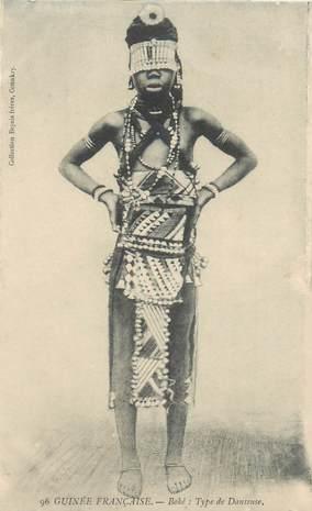 """CPA AFRIQUE """"Guinée, type de danseuse Boké"""" / NU"""
