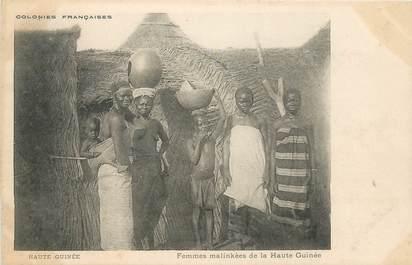 """CPA AFRIQUE """"Haute Guinée, femmes malinkees"""" / NU"""
