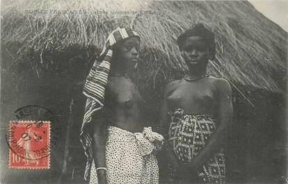 """CPA AFRIQUE / GUINEE """"Jeunes femmes de Kindia"""" / NU"""