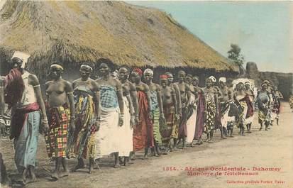 """CPA AFRIQUE / DAHOMEY """"Féticheuses"""" / NU"""