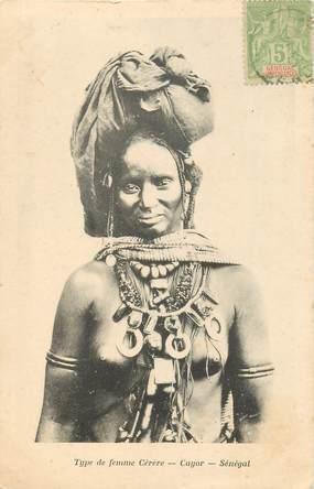 """CPA AFRIQUE / SENEGAL """"Type de femme Cérère"""" / NU"""
