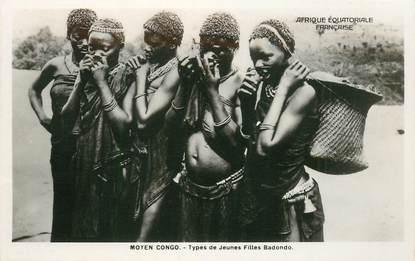 """CPA AFRIQUE / CONGO """"Jeunes filles Badondo"""""""