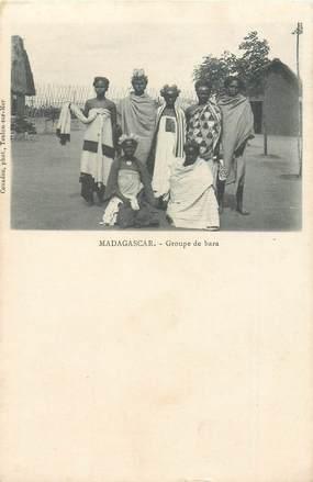 "CPA MADAGASCAR ""Groupe de Bara"""