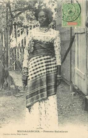 """CPA MADAGASCAR """"Femme Sakalave"""""""