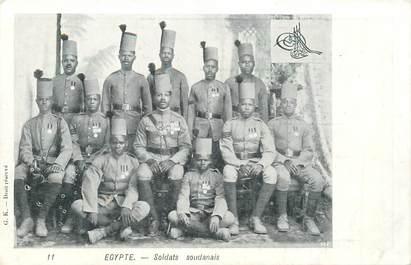 """CPA EGYPTE """"Soldats soudanais"""""""