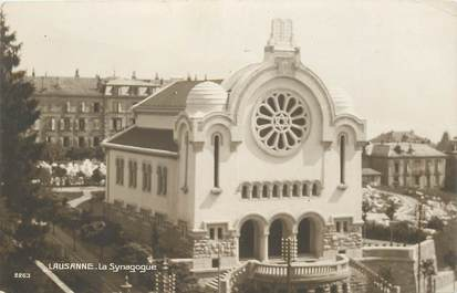 """CPA SUISSE """"Lausanne, Synagogue"""""""