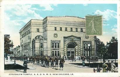 "CPA USA ""Nouvelle Orléans, Jerusalem Temple, Synagogue"" / JUDAICA"