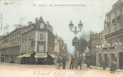 """CPA FRANCE 03 """"Vichy, rue de Nimes"""""""