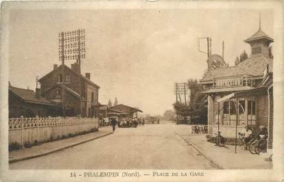"""CPA FRANCE 59 """"Phalempin, place de la gare"""""""