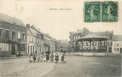 """CPA FRANCE 02 """"Hirson, Place d'Armes"""""""