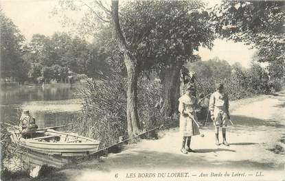 """CPA FRANCE 42 """"Bords du Loiret, jeu de diabolo"""""""