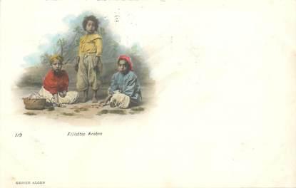 "CPA ALGERIE ""Fillettes arabes"" / GEISER"