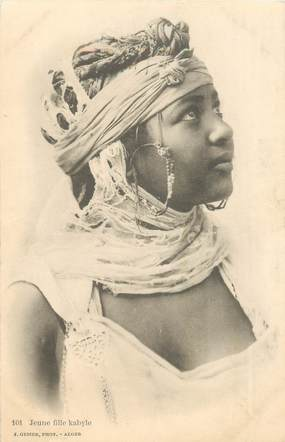 "CPA ALGERIE ""Jeune femme Kabyle"""