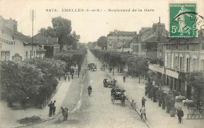 "/ CPA FRANCE 77 ""Chelles, bld de la Gare"""