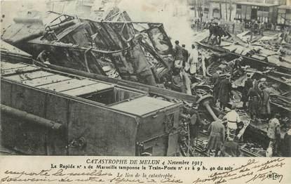 "/ CPA FRANCE 77 ""Catastrophe de Melun"""