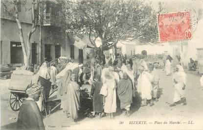 """CPA TUNISIE """"Bizerte, place du Marché"""""""